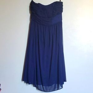 Beautiful navy Le Chateau strapless dress